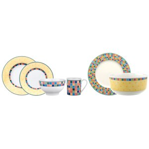 Twist Alea Limone 18 Piece Dinnerware Set, Service for 4