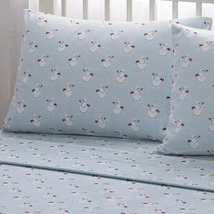 Snowman 100% Cotton Flannel Sheet Set