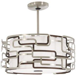 Gregoire Tiers 1-Light LED Drum Pendant by Orren Ellis
