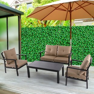 Coastview 4 Piece Sofa Set with Cushions