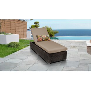 Mejia Reclining Chaise Lounge with Cushion