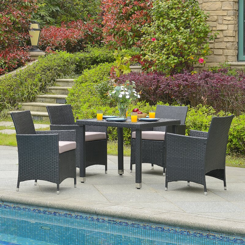 Four Person Patio Dining Sets Youll Love Wayfair - Dining patio