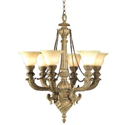 9 light shaded chandelier