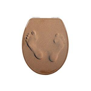 WC-Sitzaufkleber Metal Footprints von House Addi..