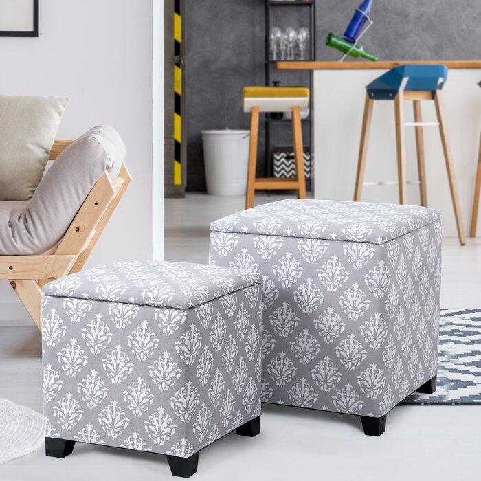 Awe Inspiring Robena 2 Piece Storage Ottoman Set Bralicious Painted Fabric Chair Ideas Braliciousco