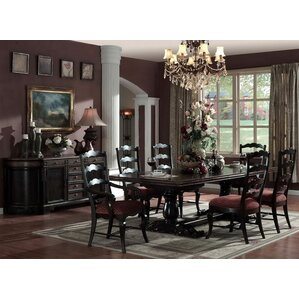 Lorraine Rectangular Extendable Dining Table (Set of 4) by Eastern Legends