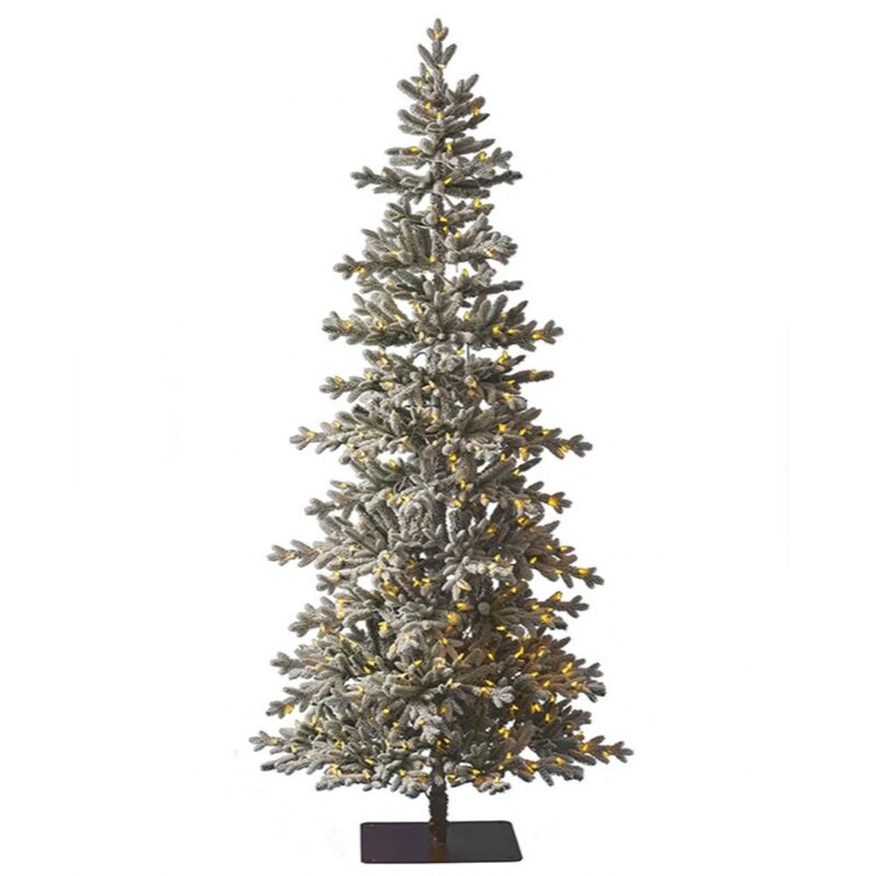 Tree Classics By Balsam Hill 7 5 Green White Pine Artificial Christmas Tree With 400 Clear Lights Wayfair