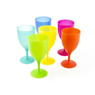 4-Piece 14 oz. Plastic Goblet Set (Set of 4)