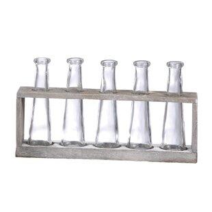 Villela Vase Holder with 5 Glass Vase