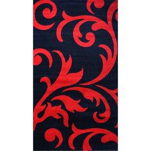 Guide to buy Melendez Black/Red Area Rug ByAstoria Grand