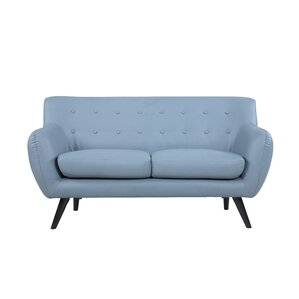 Mid Century Modern Tufted Loveseat by Madison Home USA