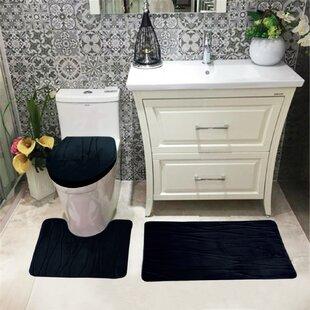 Comparison Sarratt Solid Plush Microfiber Bath Rug Set ByBrayden Studio
