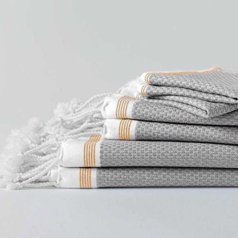 mediterranean cotton bath towels