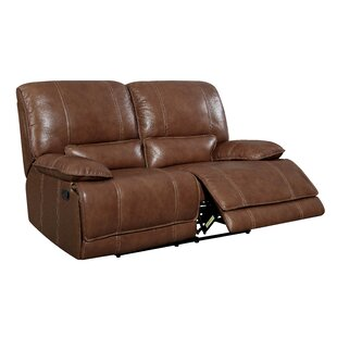 17 Stories Dupree Leather Reclining Loveseat