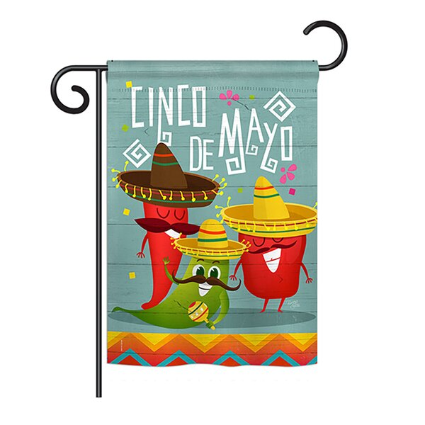 Breeze Decor Chili Pepper Cinco De Mayo Country And Primitive 2 Sided Polyester 19 X 13 In Garden Flag Wayfair