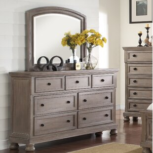 Savings Willesden 5 Drawer Dresser with Mirror by Greyleigh