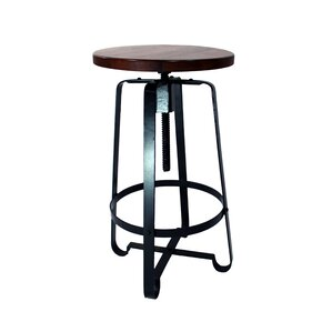 17 Stories Tyrik Adjustable Height Swivel Bar Stool