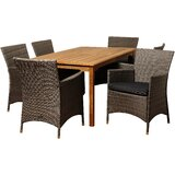 Brighton 7 Piece Dining Set with Cushions