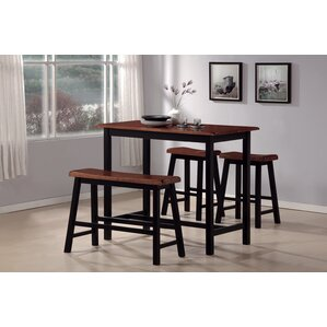 Opal 4 Piece Counter Height Dining Set by Red Ba..