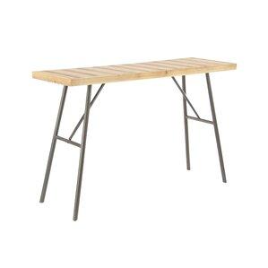 Latitude Run Stoker Modern Rectangular Slatted Design Wooden Console Table