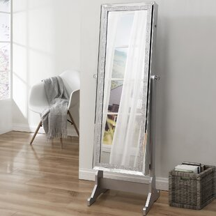 Check Prices Pizzazz Full Length Jewelry Armoire with Mirror ByInspired Home Co.