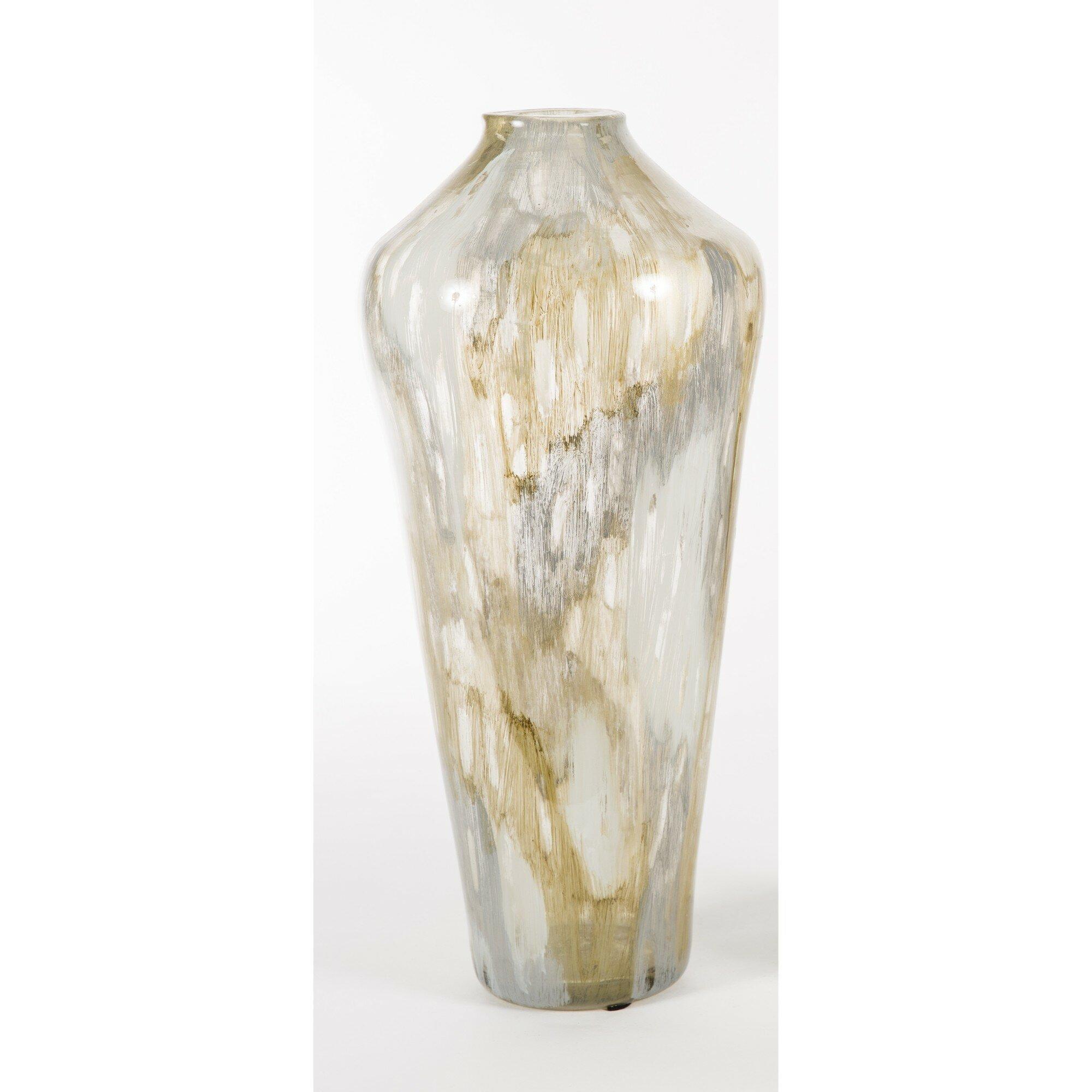 Prima Design Source Watson Brown Gray 22 Glass Table Vase Perigold