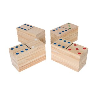 Trademark Innovations 28 Piece Wood Dominoes Giant Board Game Set