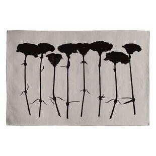 Online Reviews Garima Dhawan Black Carnations Novelty Rug ByDeny Designs