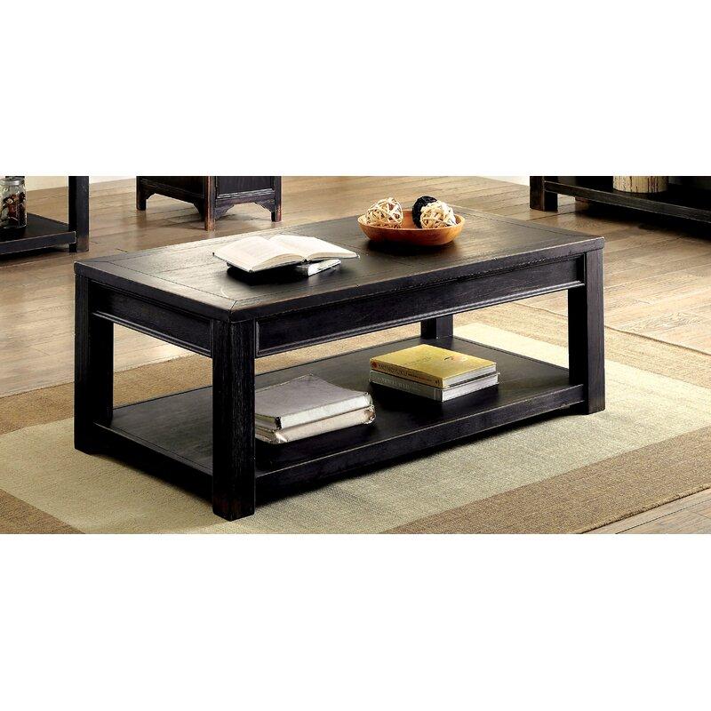 Gracie Oaks Rentz Coffee Table With Storage Wayfair