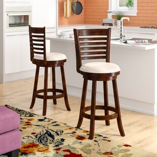 Leakey 29 Swivel Bar Stool (Set of 2) Latitude Run