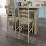 Darin Lodge Kitchen Island Set with Granite Top by Gracie Oaks