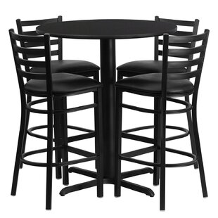 Lomonaco 5 Piece Pub Table Set Winston Porter