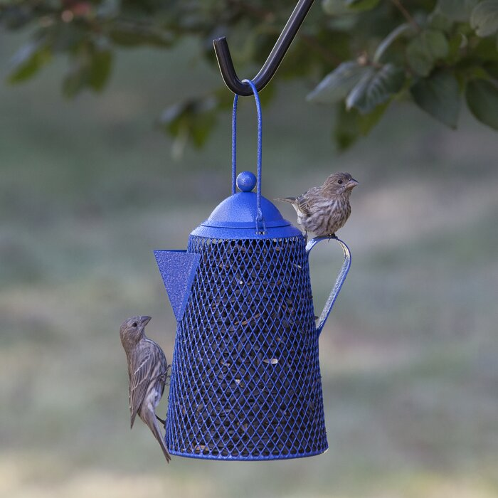 Coffee Pot Mesh Decorative Bird Feeder