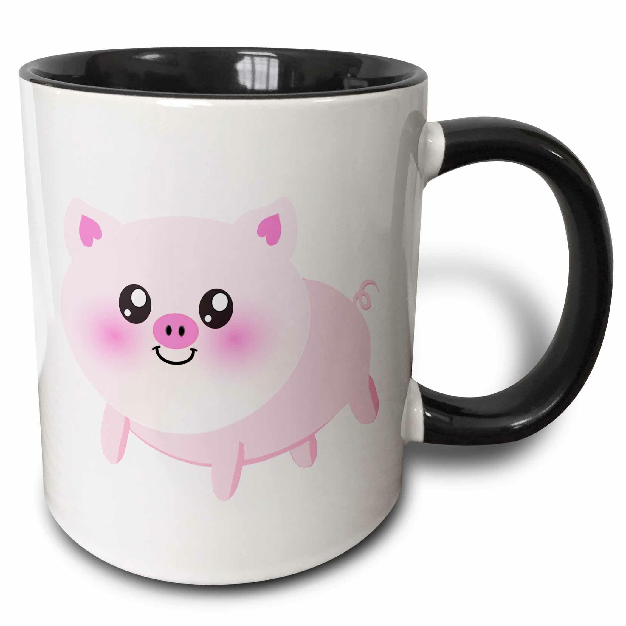 Ebern Designs Cormick Cute Happy Pig Cartoon Coffee Mug Wayfair