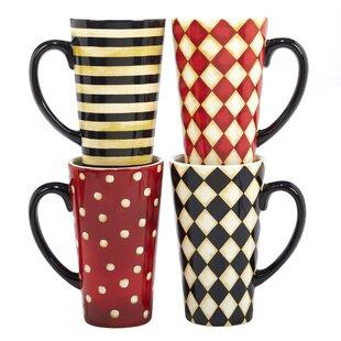Styers 4 Piece Ceramic Coffee Mug Set