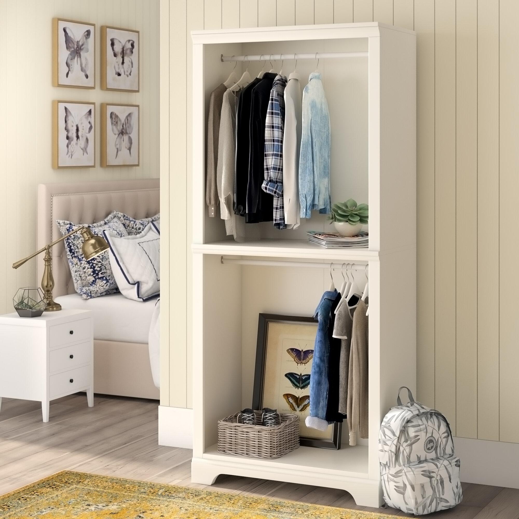 Three Posts Mickelsen 36 W Wood Freestanding Closet System Reviews