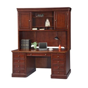 Darby Home Co Spielman Executive Desk with Hutch