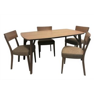George Oliver Crompton 5 Piece Breakfast Nook Dining Set
