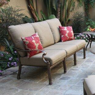 Astoria Grand Bergen Patio Sofa with Cushion