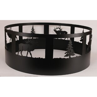 Loon Peak Glenlee Elk Steel Charcoal Fire Ring