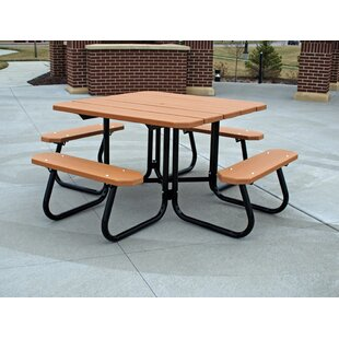 Frog Furnishings Recycled Plastic Square Picnic Table