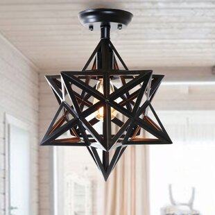 Burney 1-Light Semi Flush Mount by Gracie Oaks