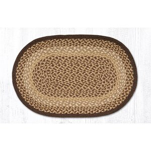 Chocolate/Natural Braided Area Rug