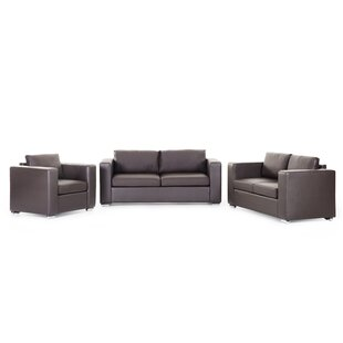 Helsinki 3 Piece Leather Living Room Set by Home & Haus