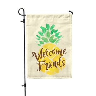 Welcome Friend 2-Sided Polyester 1'6 x 1 ft. Garden Flag by Second East