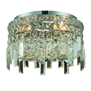 Rosdorf Park Bratton 4-Light Crystal Semi Flush Mount