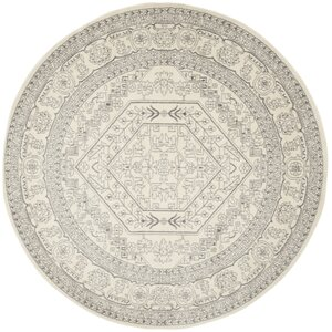 Glover Contemporary Ivory Silver Area Rug