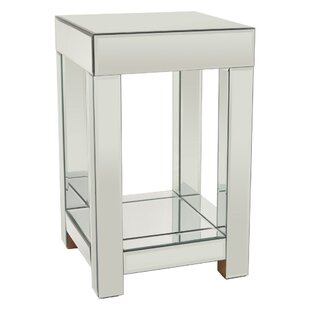 Tawanda Mirrored End Table