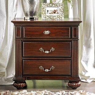 Wesleyan 3 Drawer Nightstand By Astoria Grand