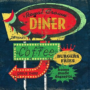 Retro Diner Sign By Marilu Windvand Vintage Advertisement On Wrapped Canvas
